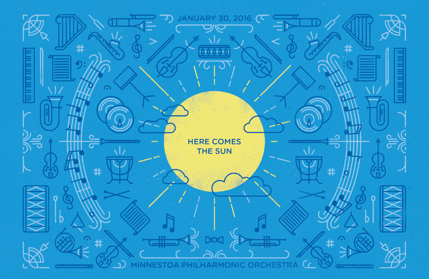 Minnesota Philharmonic Orchestra 2016 Concert Series Here Comes the Sun Poster