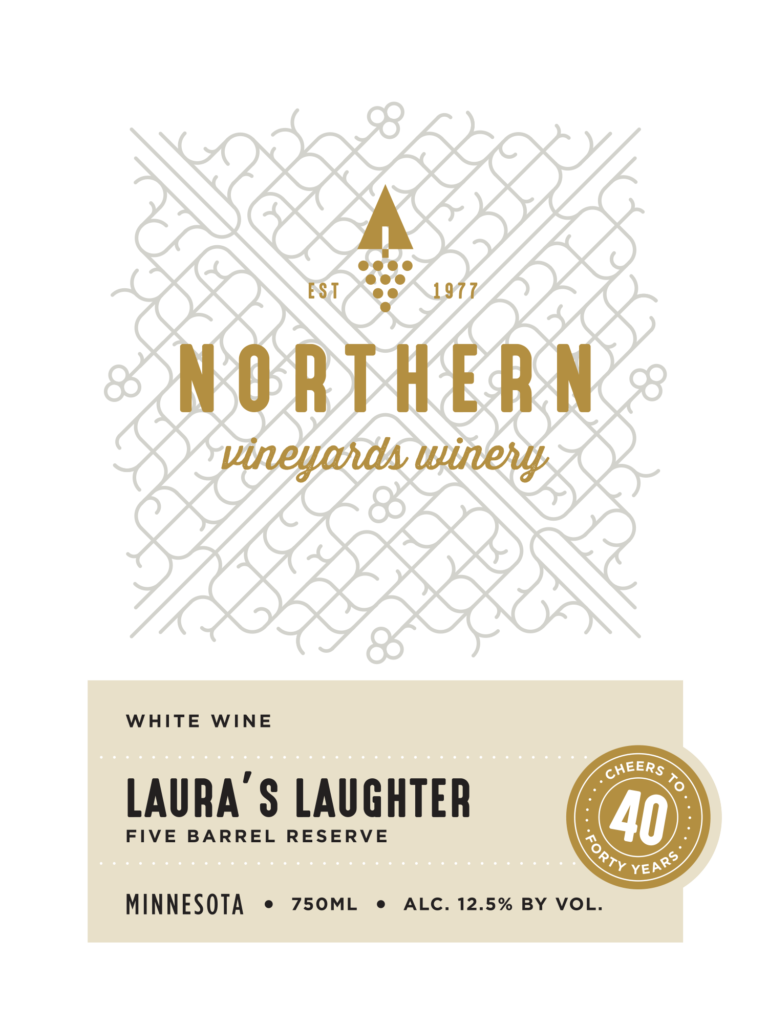 Northern Vineyards Laura's Laughter Wine Label