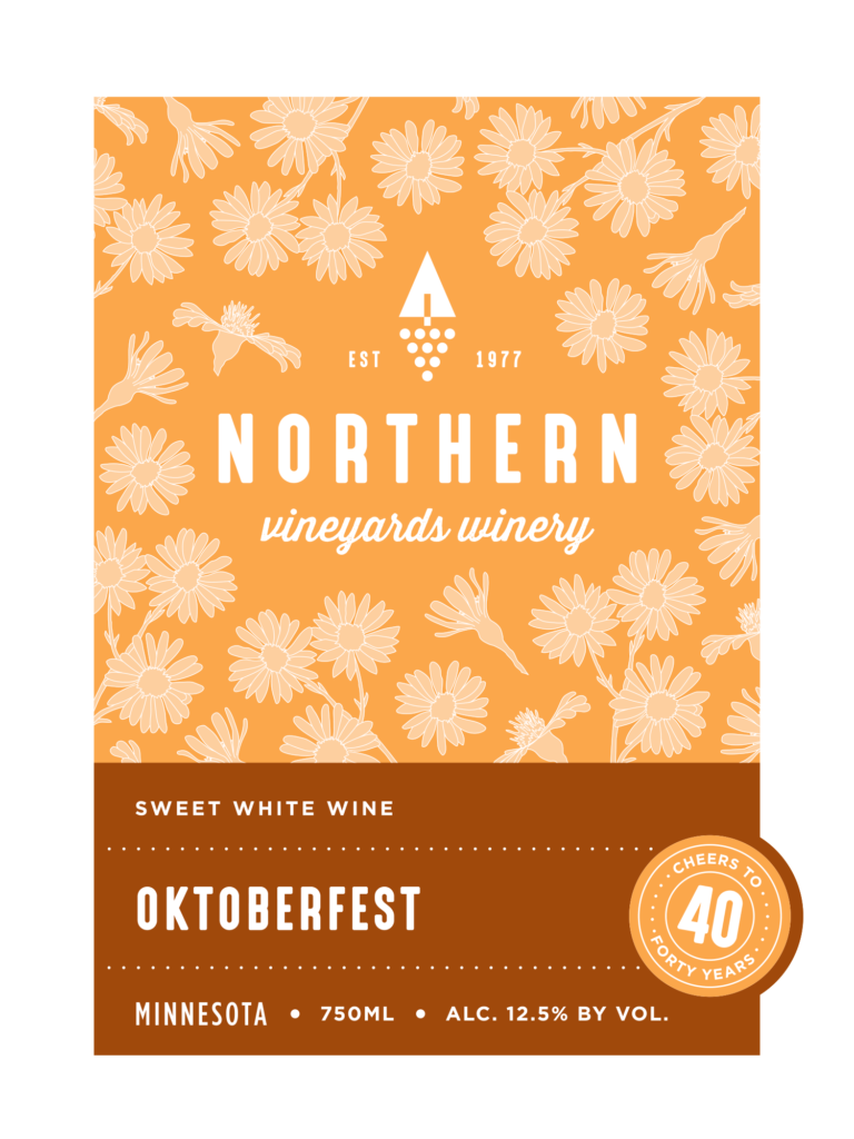 This is the Northern Vineyards Oktoberfest Wine Label
