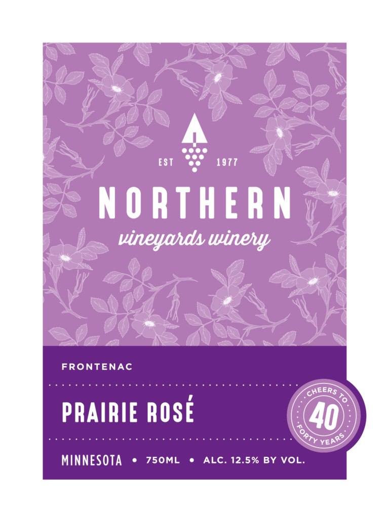 This is the Northern Vineyards Prairie Rose Wine Label