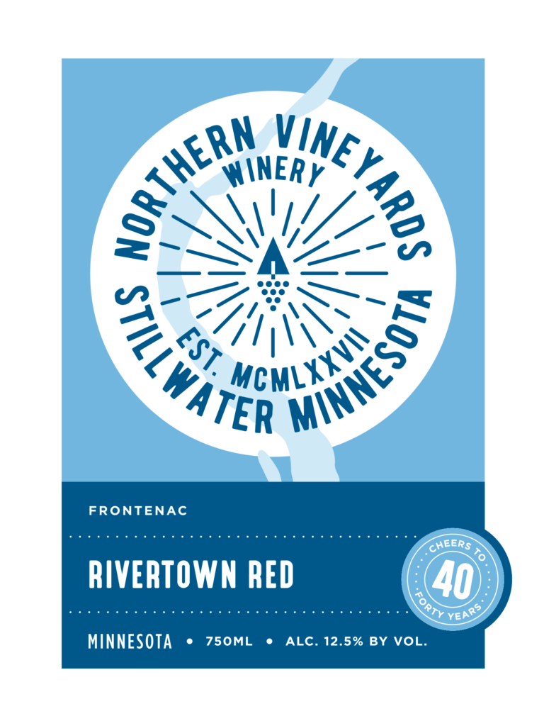 This is the Northern Vineyards Rivertown Red Wine Label
