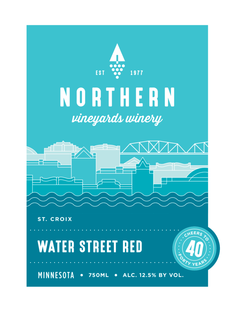 This is the Northern Vineyards Water Street Red Wine Label