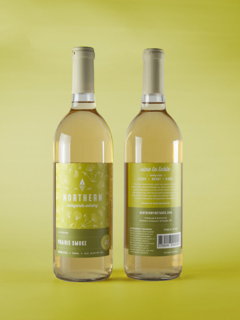 Northern Vineyard's Prairie Smoke Wine Bottle