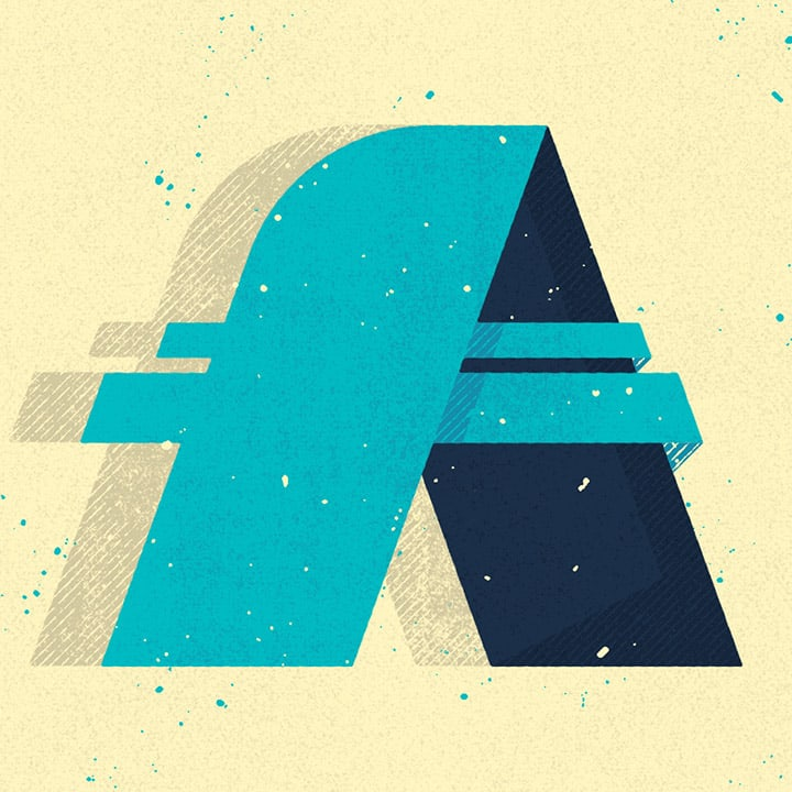 Graphic Design of the Letter A