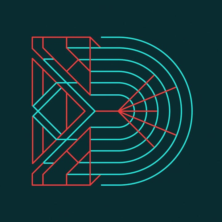 Graphic Design Typography of the Letter D