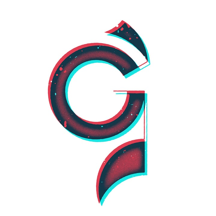 Graphic Design Typography of the Letter G
