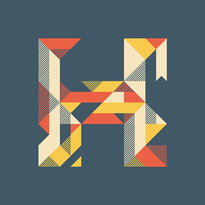 graphic letter H