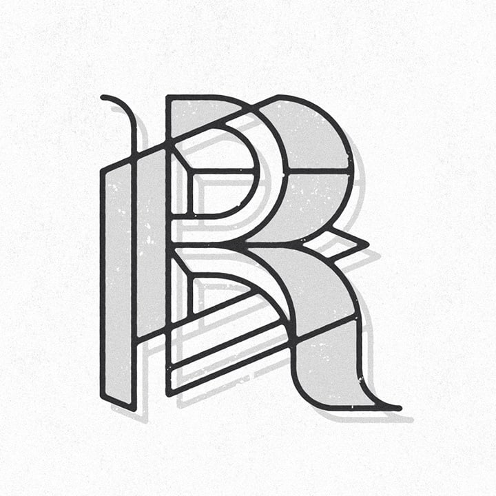 graphic letter R