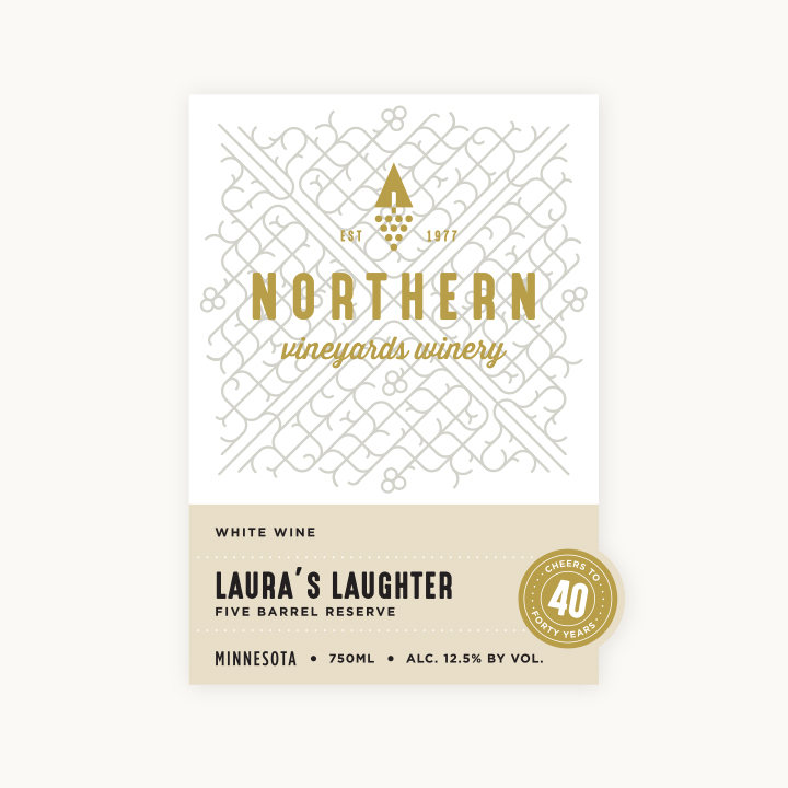Northern Vineyards Laura's Laughter wine bottle label