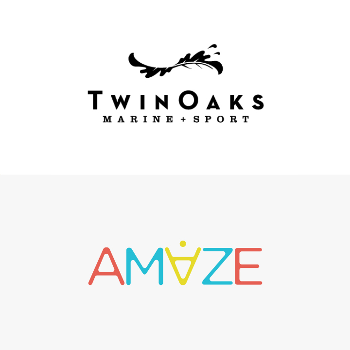 Twin Oaks Marine and Sport & AMAZE Logos