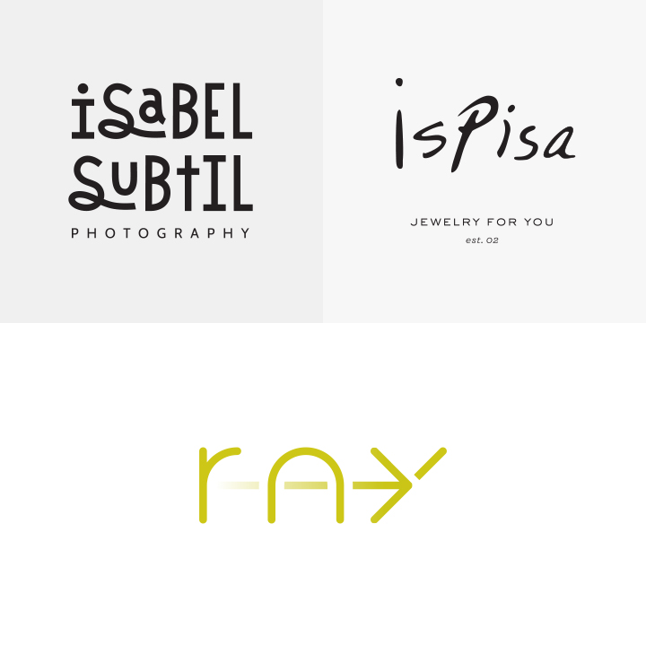 Isabel Subtil Photography, ispisa, and Ray Apartments Logos