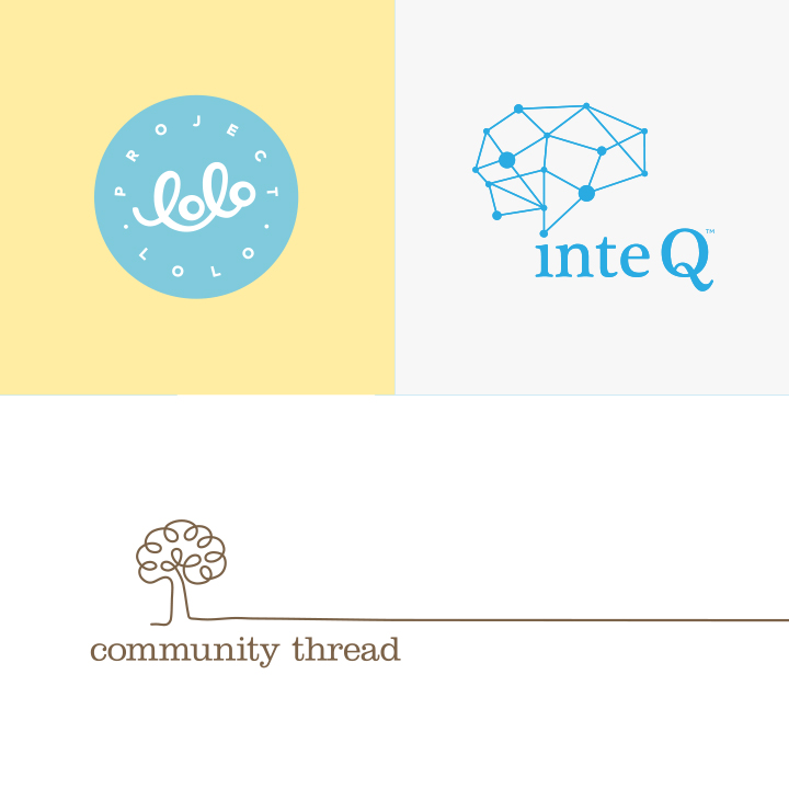 Project Lolo, inteQ, and Community Thread Logos