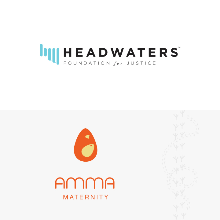 Headwaters Foundation for Justice and Amma Maternity Logos