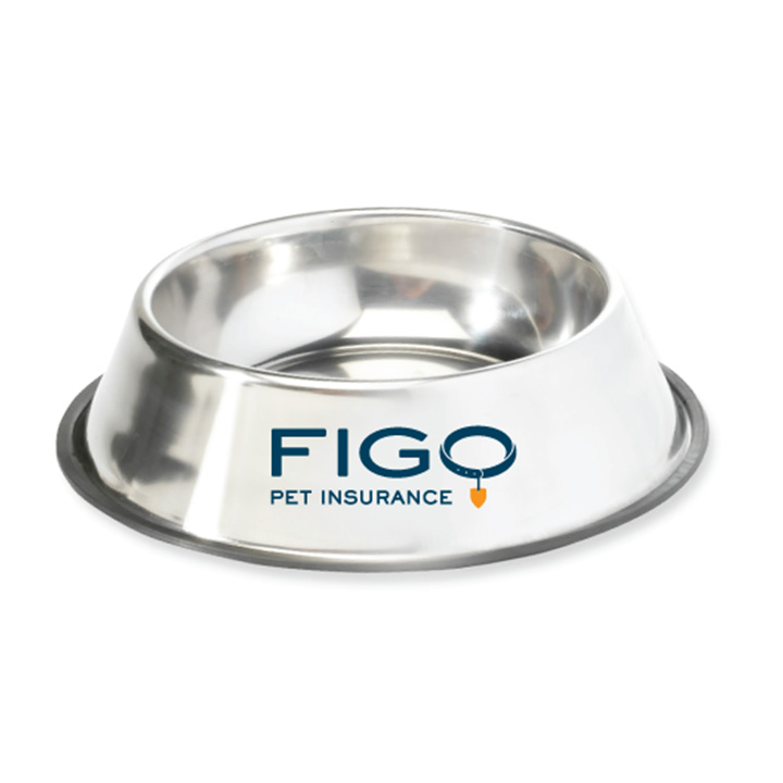 FIGO Pet Insurance Brand Dog Bowl