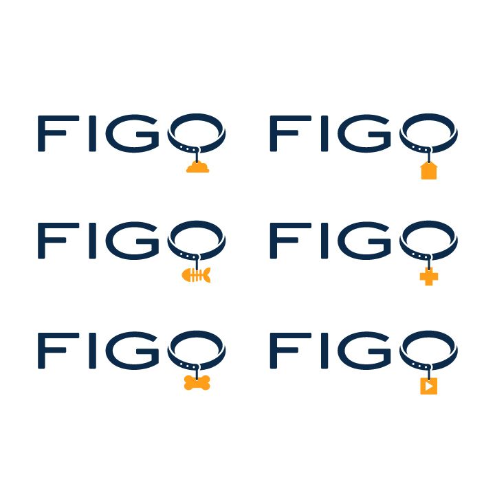 Different Iterations of the FIGO Logo Modular Variable