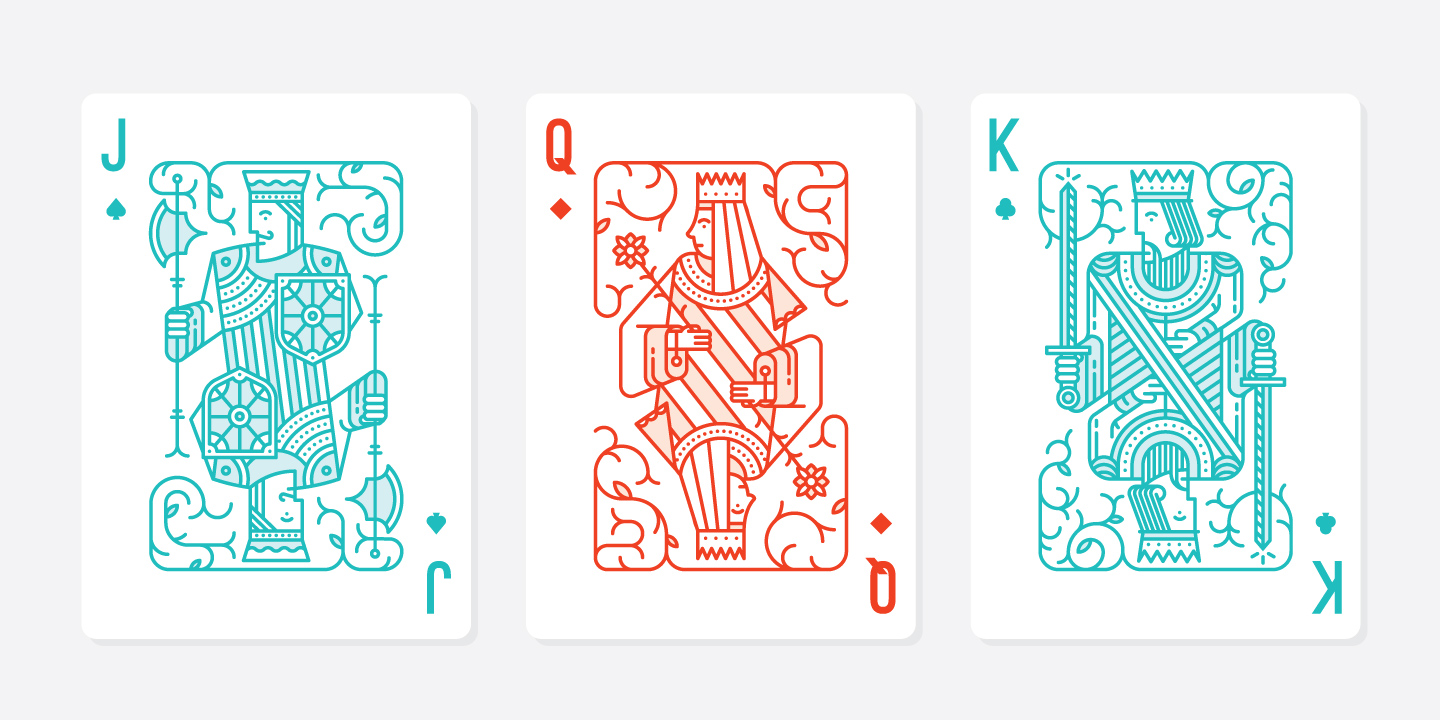 IMAGEHAUS Playing Card Jack, Queen, and King Design